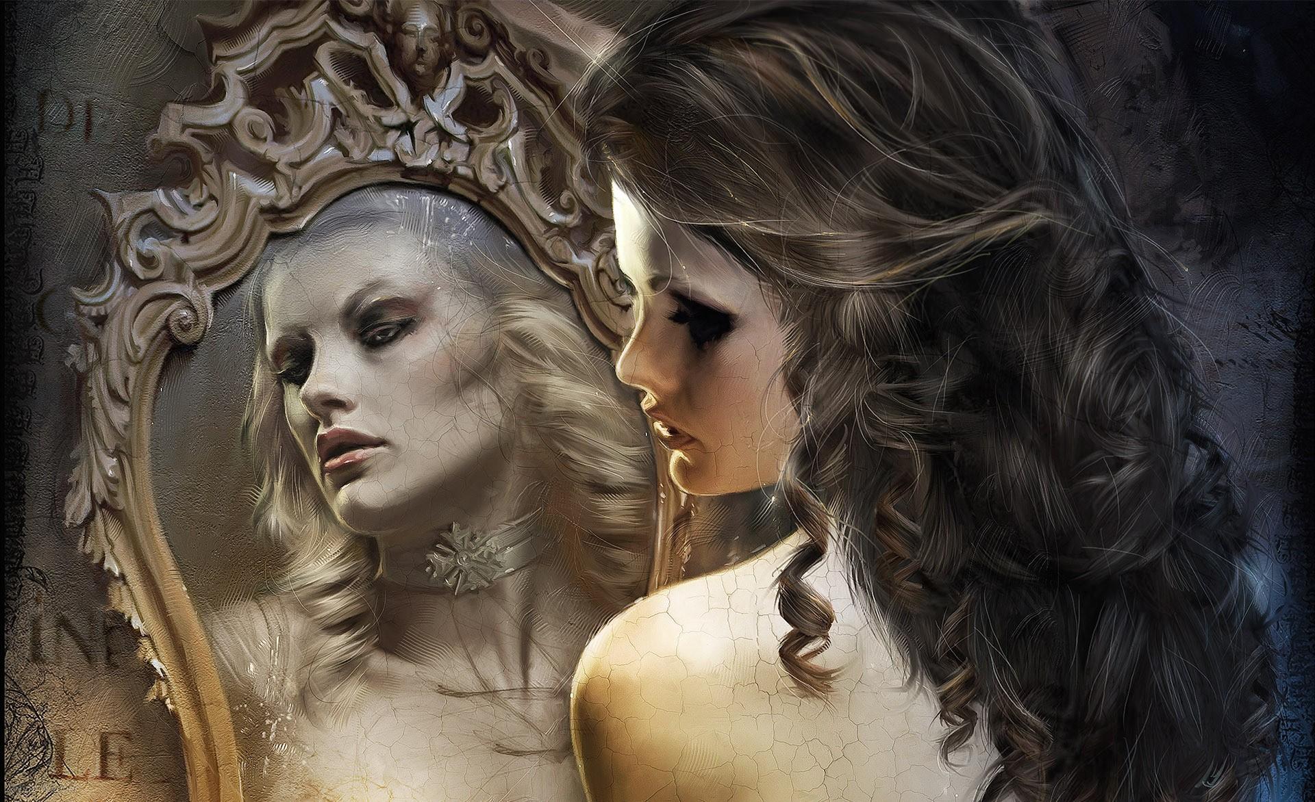 Гадания с помощью зеркала