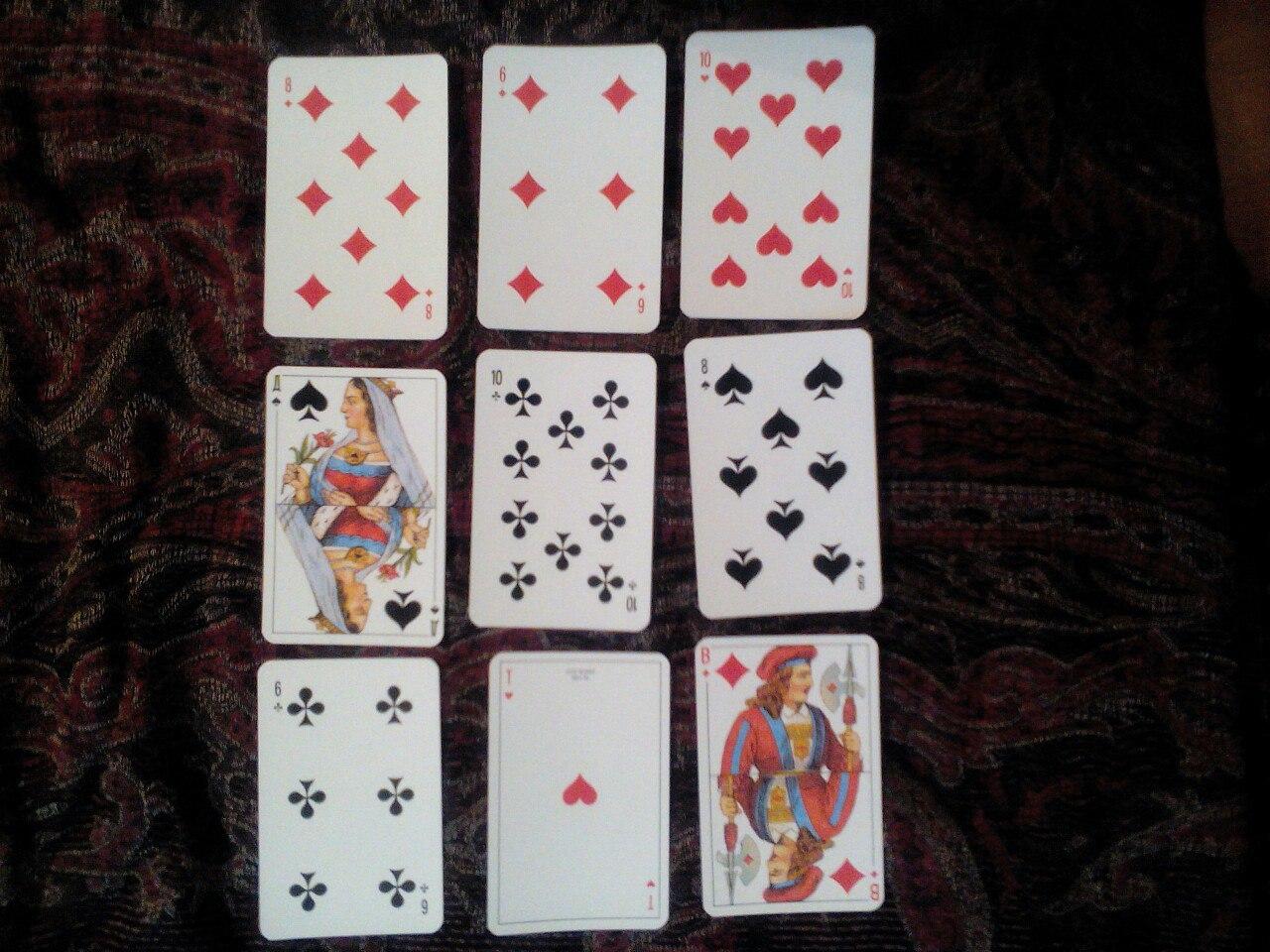 Гадание на игральных картах: пример гадания на мужа